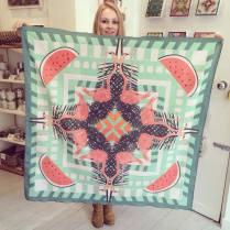 'Flamingo' Cotton scarf 105cm x 105cm £55