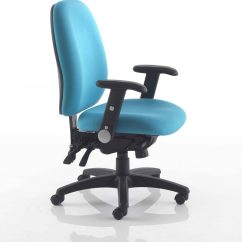 The Posture Chair Brown Leather Office Modern Stellar Operator Claremont Furniture