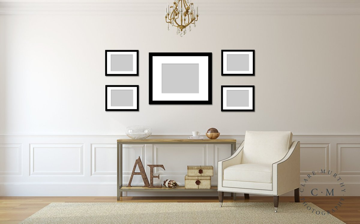 gallery wall with family photos