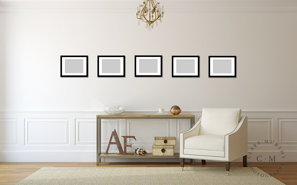 Make a gallery wall with 5 photos
