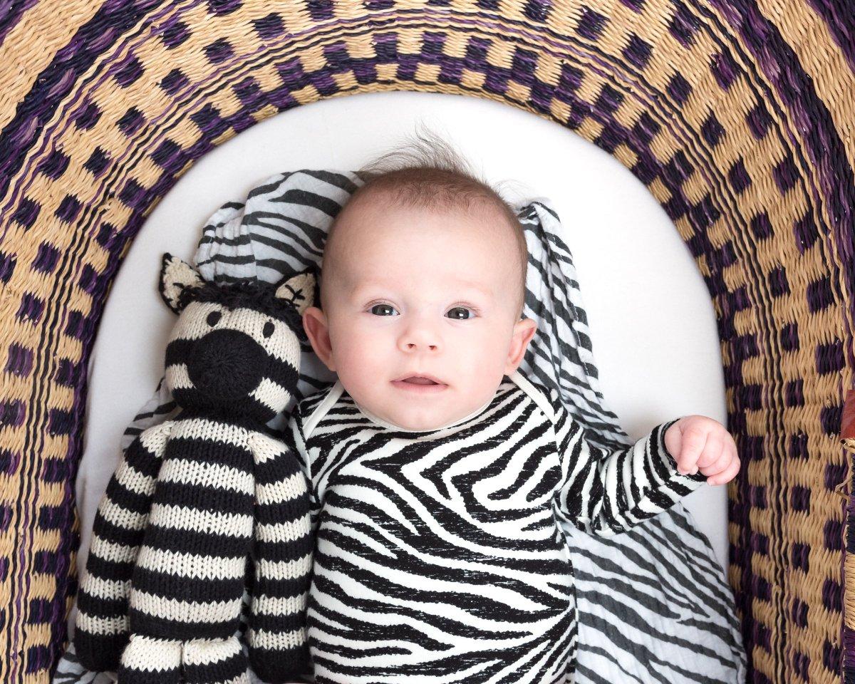 Older Newborn vs Three Month Old Photo Shoot