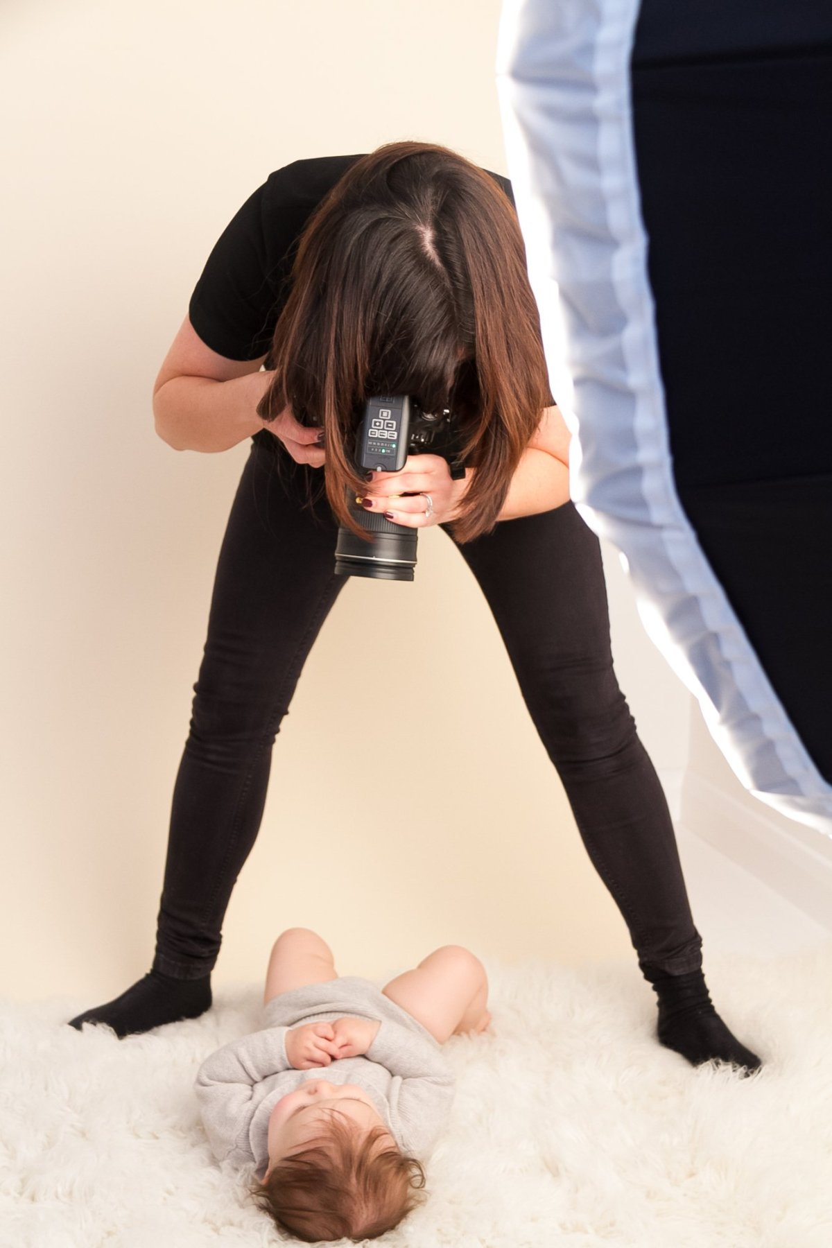 Baby photo shoot at london studio