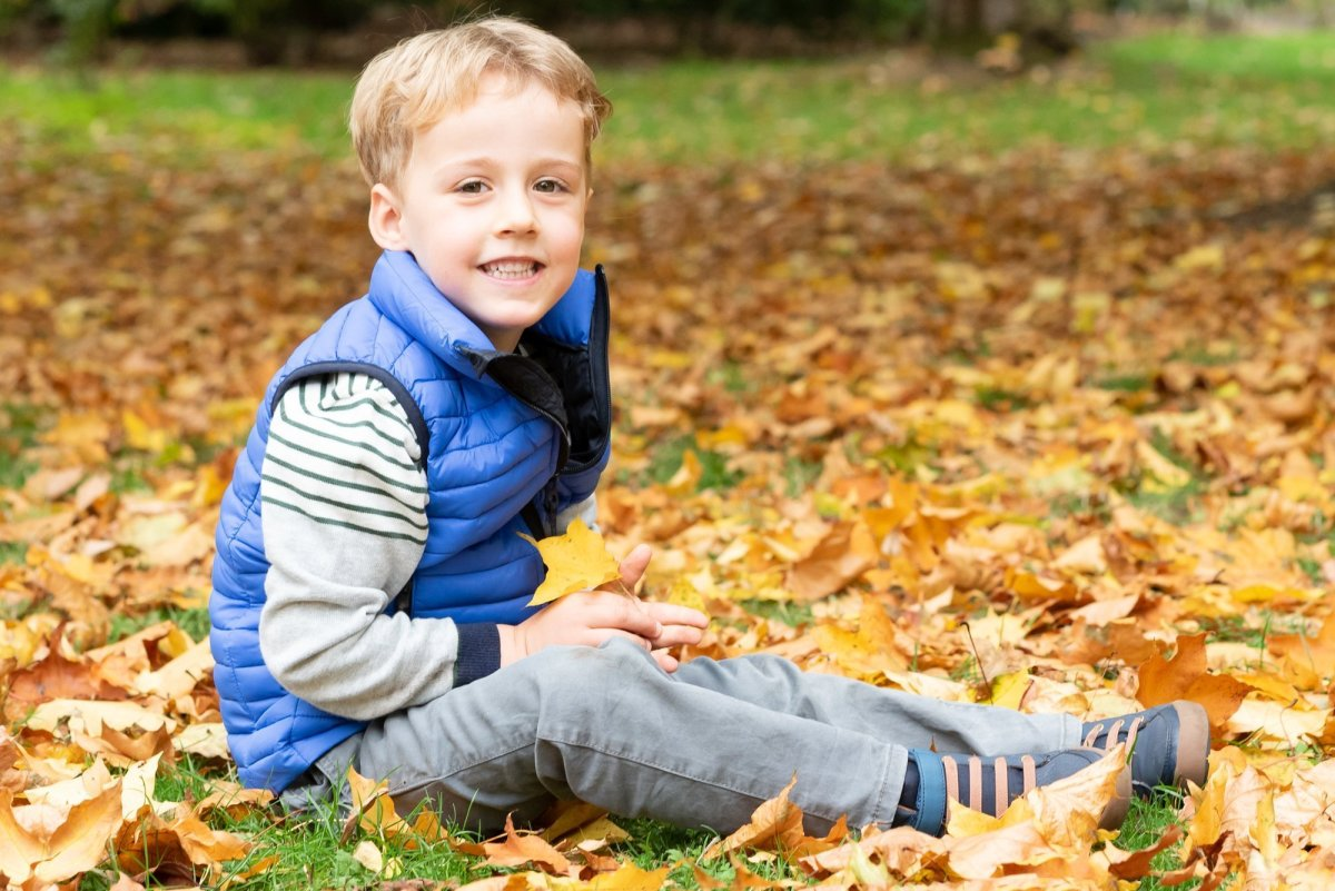 Family portraits outdoors in Surrey