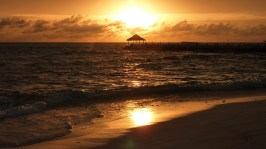 Sunset in the Maldives - taken May 2010
