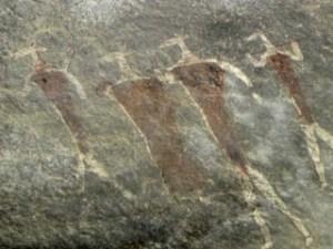 Bushman paintings Schaapplaats hike Clarens