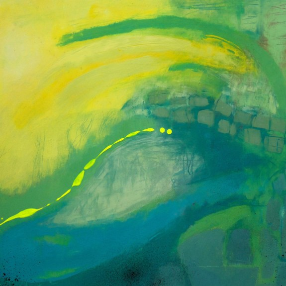 With yellow - 47cm x 36.5cm - Oil on paper