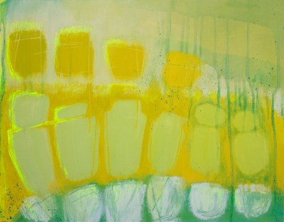"""Yellow Song"" Oil on paper 46cm x 36cm"