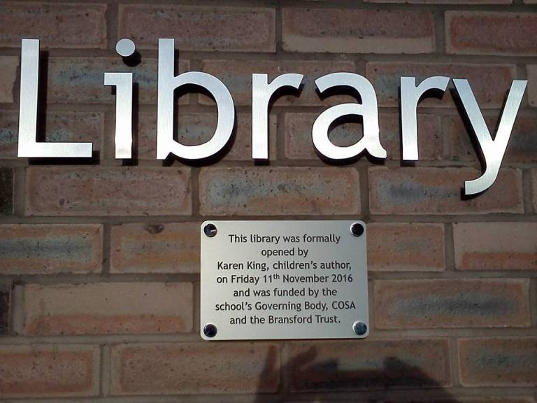 Library plaque