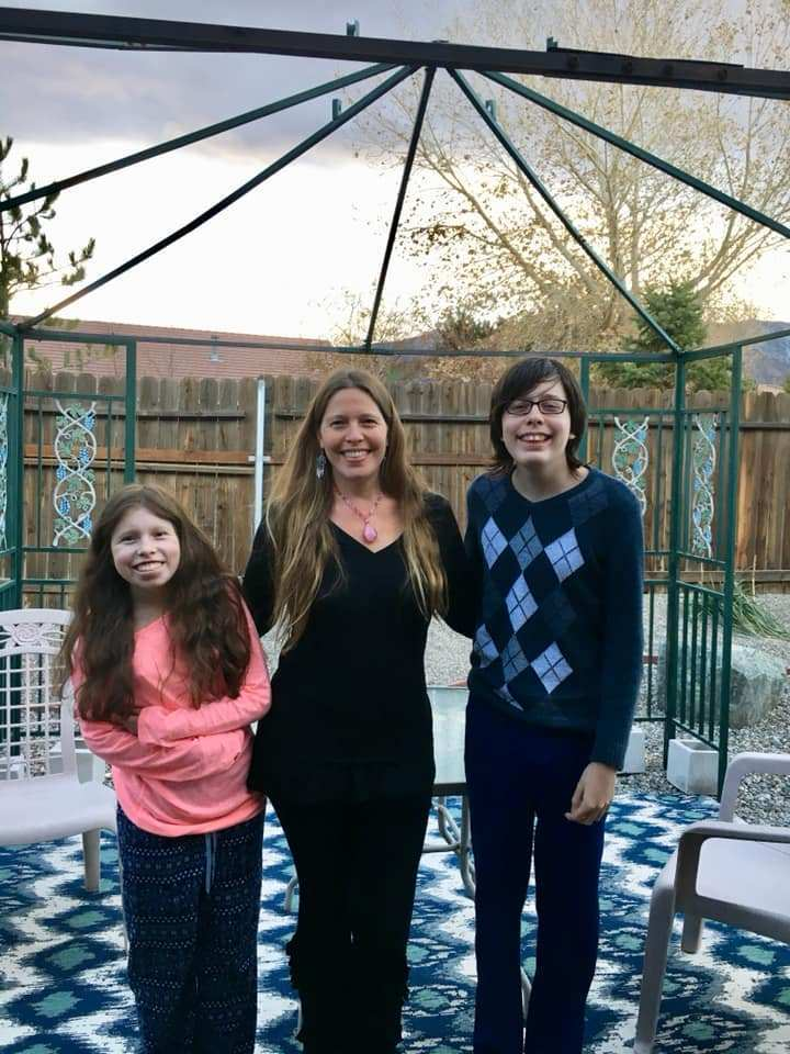 Author Camilla Downs and family