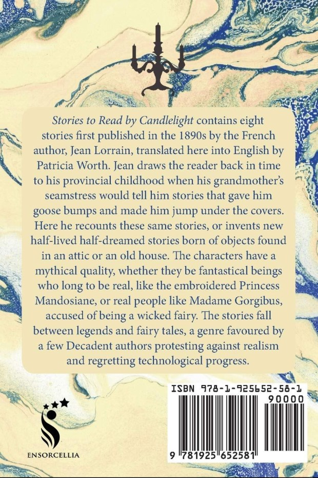 Stories to read by Candlelight, Back Cover