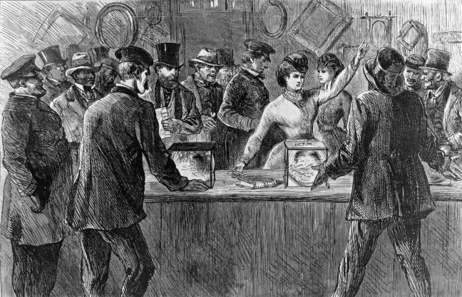 Victoria Woodhull attempts to vote