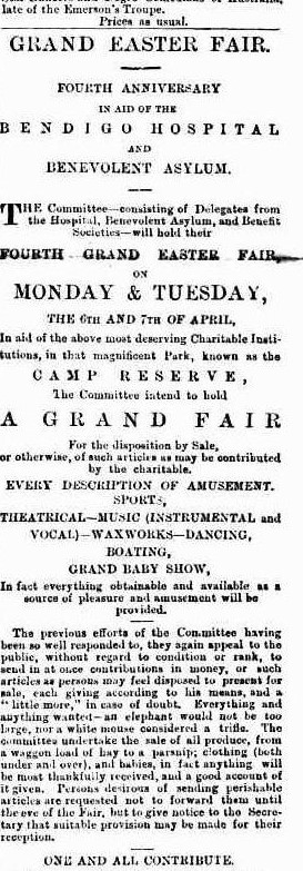 An advertisement for the match