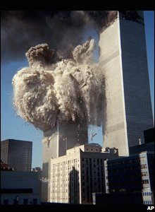 tower collapsing 911