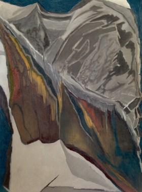 Rock Formation II. Graphite & soft pastel on paper. 200x150cm