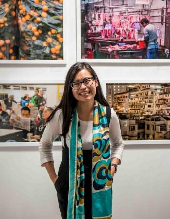 Clare Yow in her art studio