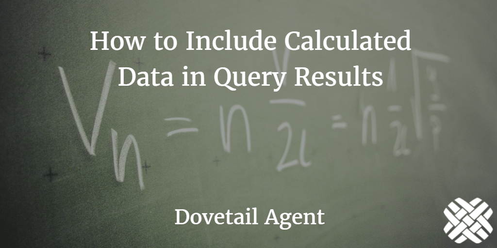Calculated Data in Query Results