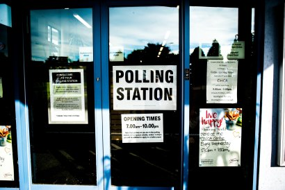 image of a polling station