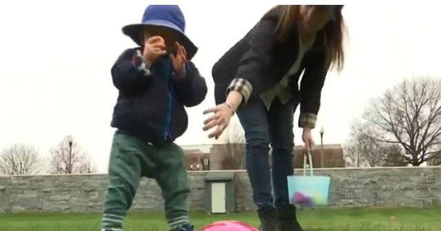 Visually Impaired Children Take Part in Special Easter Egg Hunt