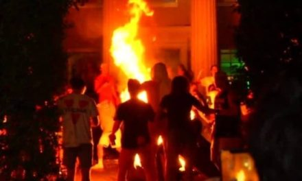 WATCH: Virginia Fans Burn Couches During National Championship Celebration