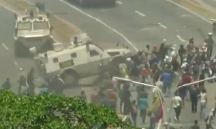 Watch: Chaos in Venezuela as armored vehicle plows into crowd amid uprising against Socialist dictator Maduro