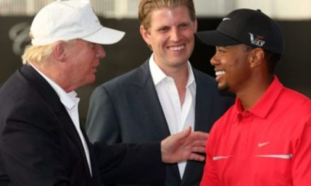 President Trump Praises Tiger Woods, Wishes All Golfers Good Luck Before Final Round