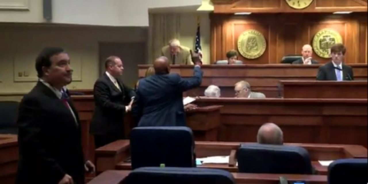 Watch: Chaos in Alabama Senate; abortion bill tabled after shouting match breaks out in chamber
