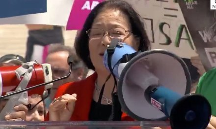 Sen. Mazie Hirono brags to protesters that she rallied school girls in support of abortion