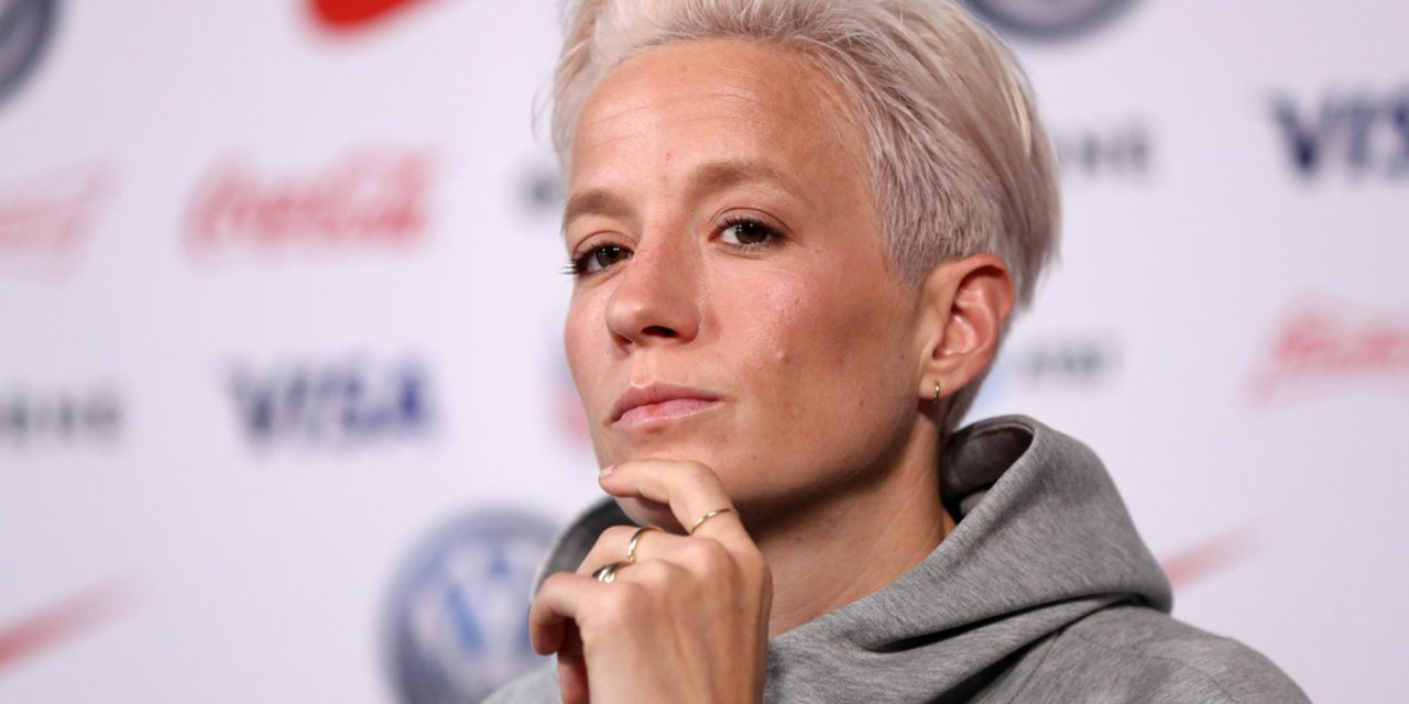 US Women's soccer star keeps promise to ignore national anthem as an 'f-you' to President Trump