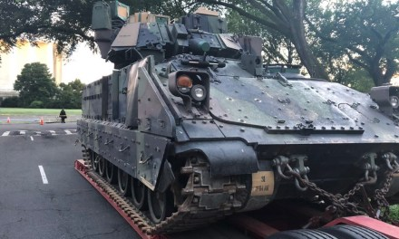 Don't panic: Army warns DC residents armored vehicles roll through neighborhoods