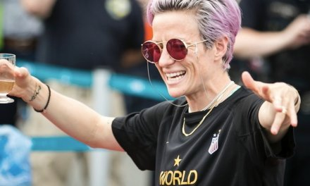 US soccer star Megan Rapinoe: World Cup champs 'very happy to accept' Chuck Schumer's Senate invitation. But no invite from Trump yet.