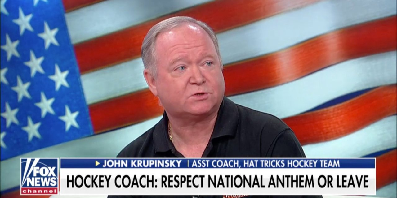 Hockey coach who went viral after speech about national anthem doubles down on remarks: 'I've unfortunately seen it cover too many coffins'