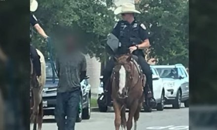 Galveston police chief apologizes after white officers on horseback led black suspect by rope