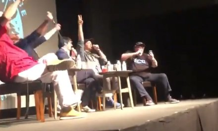 Watch Michael Moore weirdly rap the Kamala Harris student debt plan as white liberal crowd badly attempts to drop beat