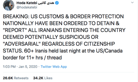 Customs And Border Protection Denies Viral News That It's Been Ordered To Detain Iranians
