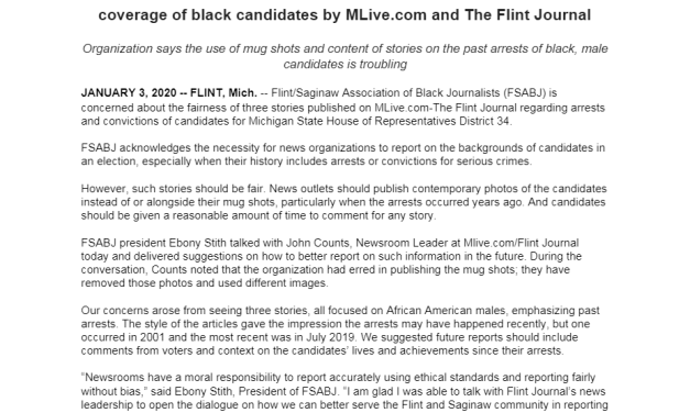 Black Journalists Group Faults Flint Paper After It Reveals State House Candidates' Weapons, Assault Charges