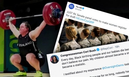 Feminists Declare Victory After Obliterating Women's Sports, Relabeling Mothers 'Birthing Persons', Getting Women Drafted