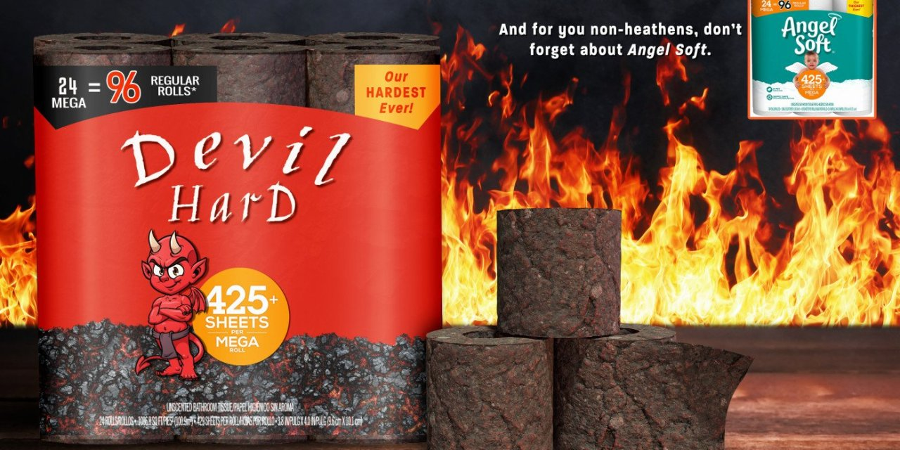 Angel Soft Releases New 'Devil Hard' Toilet Paper For Atheists