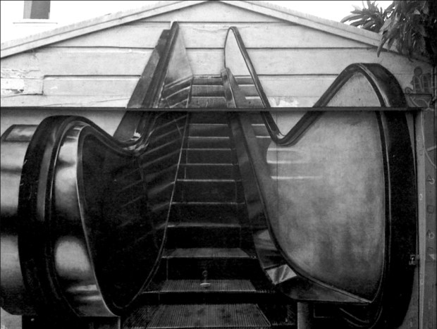 """Escalator"" by Julie Murray, Clarion Alley, 1993"