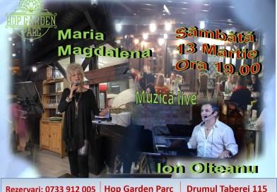 Muzica live cu Maria Magdalena si Ion Olteanu la Hop Garden Parc