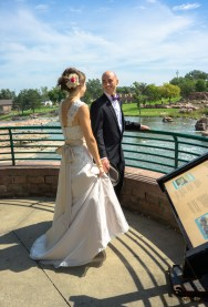 A moment from our first look, it was pretty warm in the sun!