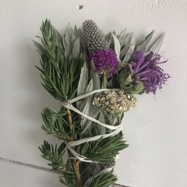 Sage, Juniper, and Wildflower Smudge Bundles