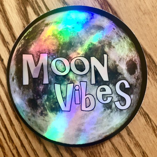 Holographic Moon Vibes Sticker