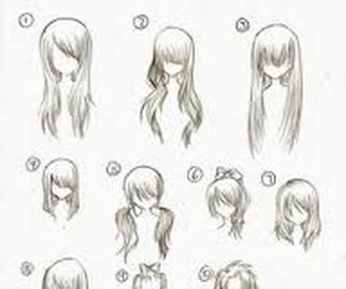 anime girl hair - with clarissa
