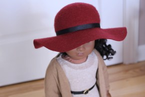 Brick Red Floppy Hat- $25