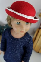 Cranberry Bowler Hat- $24