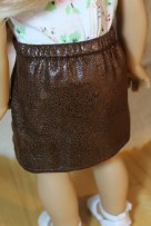 Faux Leather Miniskirt- $14