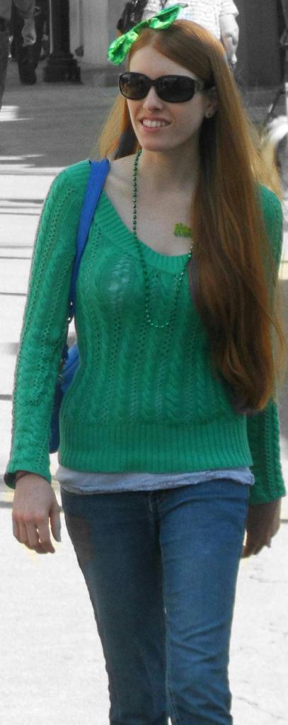 Irish lady Dublin green