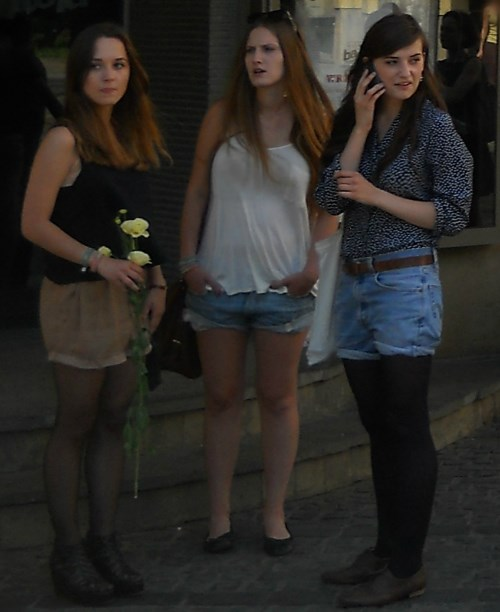 Moscow girls walking street