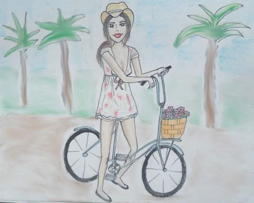 Russian girl on Egyptian beach