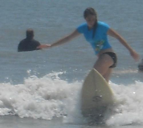 subline girl surfing